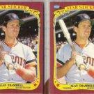 ALAN TRAMMELL (2) 1986 Fleer Star Stickers.  TIGERS