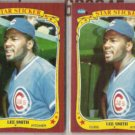 LEE SMITH (2) 1986 Fleer Star Stickers.  CUBS