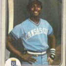 FRANK WHITE 1983 Fleer #127.  ROYALS