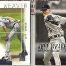 JEFF WEAVER 2002 Topps Reserve + 2000 Skybox Dominion.  TIGERS