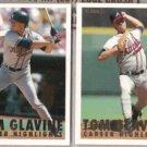TOM GLAVINE (2) 1993 Fleer Career HL #11 + 15.  BRAVES