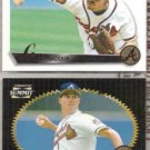 GREG MADDUX 1995 + 1996 Pinnacle.  BRAVES