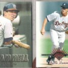 ALAN TRAMMELL 1997 Fleer + Bubba 1997 Leaf RC.  TIGERS