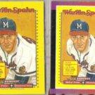 WARREN SPAHN 1989 Donruss mini Puzzle + #588.  BRAVES