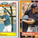 DALE MURPHY 1986 Topps AS Glossy + 1988 Donruss Best.  BRAVES