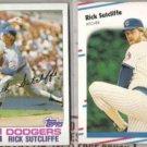 RICK SUTCLIFFE 1982 Topps + 1988 Fleer.  DODGERS / CUBS