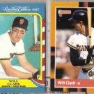 WILL CLARK 1987 Fleer LE + 1988 Donruss Best.  GIANTS