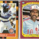 ANDRE DAWSON 1988 Donruss Best + 1986 Fleer Sticker.  EXPOS