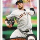 JONATHAN SANCHEZ 2011 Topps #229.  GIANTS