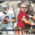 TROY AIKMAN 1996 Fleer #194 w/ Steve Young.  COWBOYS
