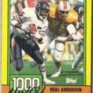 NEAL ANDERSON 1990 Topps 1000 Yard Club #8.  BEARS