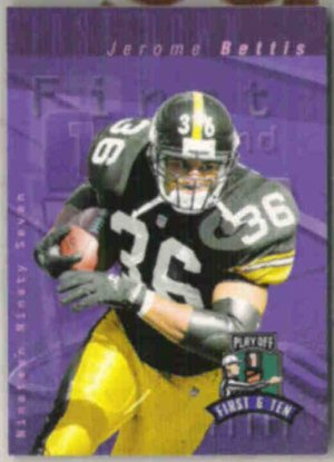 JEROME BETTIS 1997 Playoff 1st + 10 #191.  STEELERS
