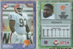 JERRY BALL (2) 1993 Edge #264.  BROWNS