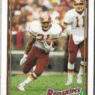 EARNEST BYNER 1991 Topps #185.  REDSKINS