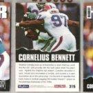 CORNELIUS BENNETT (3) 1992 Skybox Impact #315.  BILLS