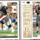TIM BROWN (2) 1992 Upper Deck #218.  RAIDERS
