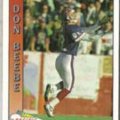 DON BEEBE 1991 Pacific #20.  BILLS