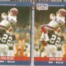 DON BEEBE (2) 1990 Pro Set #435.  BILLS