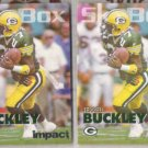 TERRELL BUCKLEY 1993 Skybox Impact Colors Insert w/ sister.  PACKERS