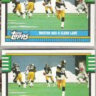 BUBBY BRISTER (2) 1990 Topps #527.  STEELERS