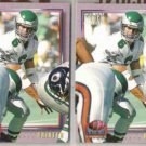 BUBBY BRISTER 1993 Pro Set Power GOLD Stamp Ins. w/ sister.  EAGLES