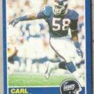 CARL BANKS 1989 Score #47.  GIANTS