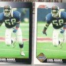CARL BANKS (2) 1991 Score #518.  GIANTS