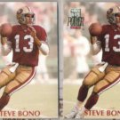 STEVE BONO (2) 1992 Pro Set Power #113.  49ers
