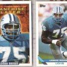 LOMAS BROWN 1993 Topps Franchise + regular issue.  LIONS
