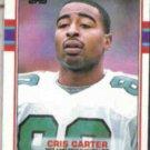 CRIS CARTER 1989 Topps #121.  EAGLES