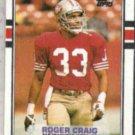 ROGER CRAIG 1989 Topps #8.  49ers