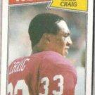 ROGER CRAIG 1987 Topps #113.  49ers