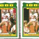 ROGER CRAIG (2) 1988 Topps 1000 Yard Club #19.  49ers