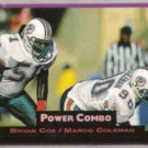 BRYAN COX 1993 Pro Set Power Combo Ins. #10.  DOLPHINS