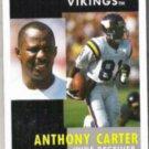 ANTHONY CARTER 1991 Pinnacle #80.  VIKINGS
