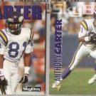 ANTHONY CARTER 1992 + 1993 Skybox.  VIKINGS