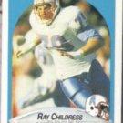 RAY CHILDRESS 1990 Fleer #126.  OILERS
