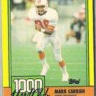 MARK CARRIER 1990 Topps 1000 Yard Club #5.  BUCS