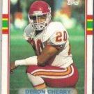 DERON CHERRY 1989 Topps #352.  CHIEFS