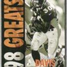 TERRELL DAVIS 1998 Fleer Ultra Greats #382.  BRONCOS