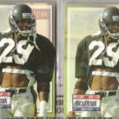 ERIC DICKERSON 1993 Pro Set Power Gold Ins. w/ sister.  FALCONS