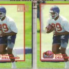 ROBERT DELPINO 1993 Pro Set Power Moves Gold Ins. w/ sister.  BRONCOS