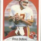 STEVE DeBERG 1990 Fleer #199.  CHIEFS