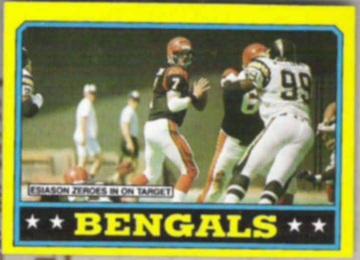 BOOMER ESIASON 1986 Topps #254.  BENGALS