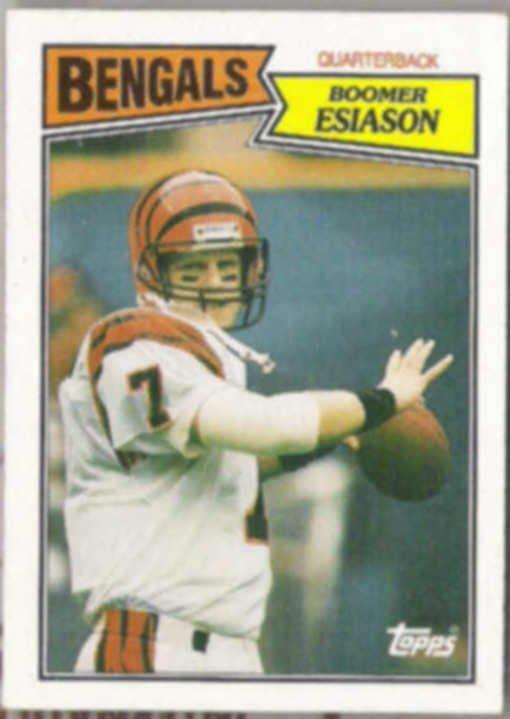 BOOMER ESIASON 1987 Topps #185.  BENGALS