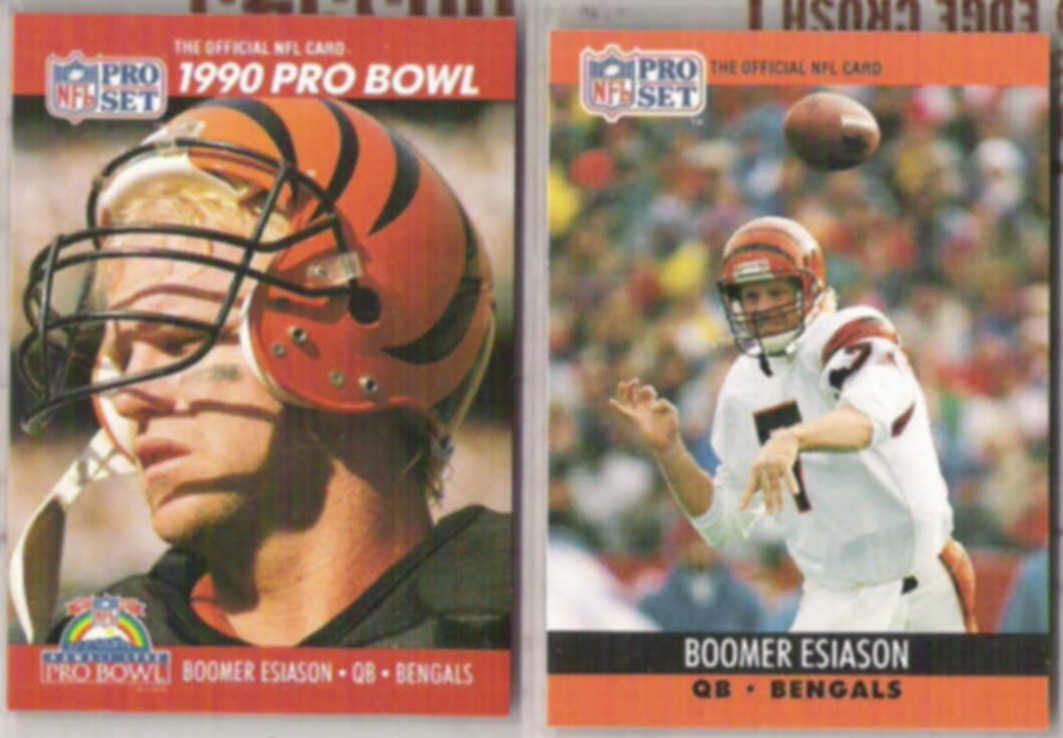 BOOMER ESIASON 1990 Pro Set #341 + #463.  BENGALS