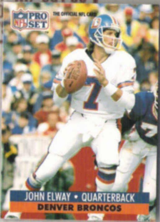 JOHN ELWAY 1991 Pro Set #138.  BRONCOS