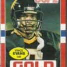 VINCE EVANS 1985 Topps USFL #31.  GOLD