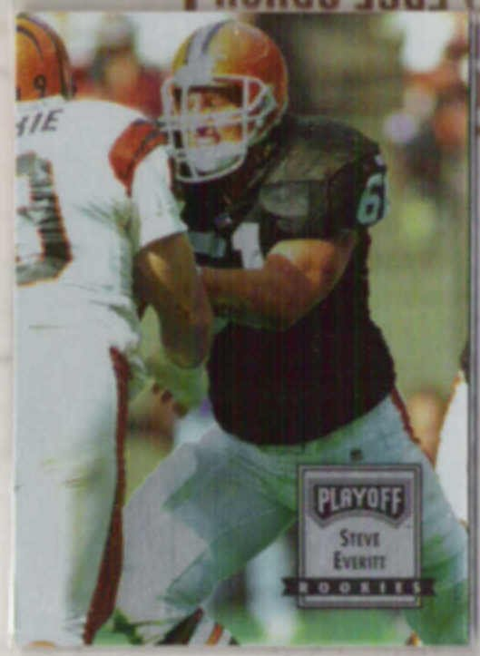 STEVE EVERITT 1993 Playoff Rookies #138.  BROWNS