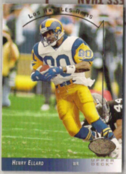 HENRY ELLARD 1993 Upper Deck SP #140.  RAMS